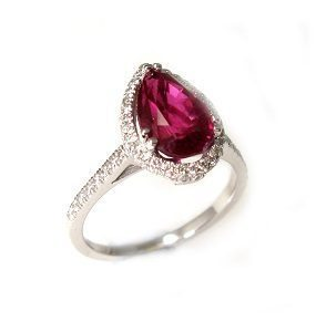 Ruby & diamonds ring model Roth