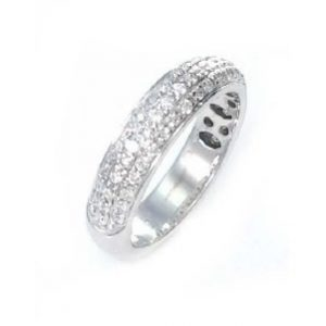 Diamonds 3 rows diamonds ring model Cherry