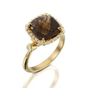 Smoky Topaz stand out ring