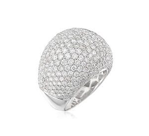 Diamonds dome ring model Dharma