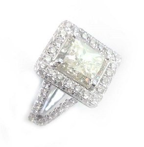 Radiant solitare diamonds ring