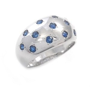 Blue Sapphires ring model Night Sky