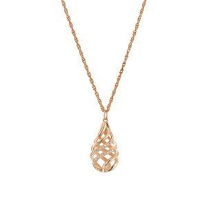 Diamonds rose gold pendant model Carmel