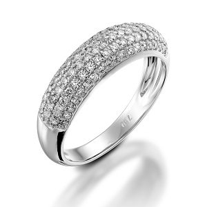 Diamonds 4 rows ring model Noel