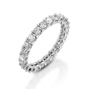 Eternity diamonds ring