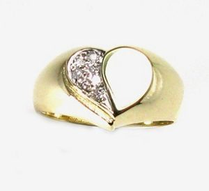 Diamonds heart ring