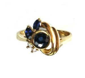 Blue delicate ring