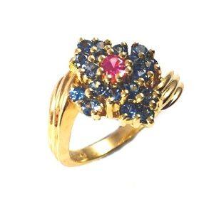 Spinels flower ring