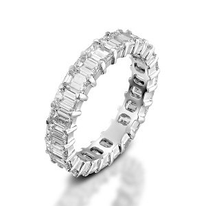 Emerald cut diamonds eternity ring 3.60 carats