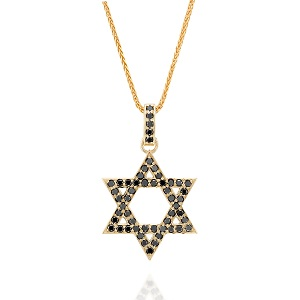 Black diamonds Star of David pendant