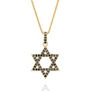Black diamonds Star of David pendant