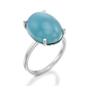 Aquamarine solitaire ring model Reuth