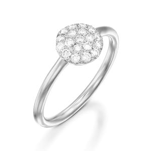 Diamonds white gold ring model Berry