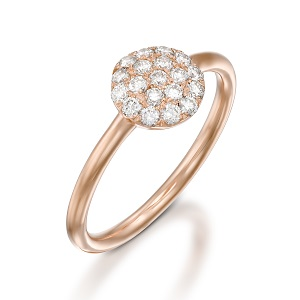 Diamonds rose gold ring model Berry