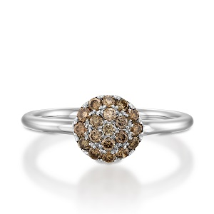 Champagne diamonds berry ring