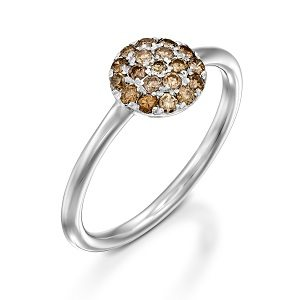 Champagne diamonds ring model Berry