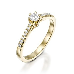 Diamonds solitaire 6 ring