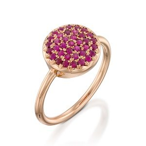 Rubies rose gold ring model Berry W