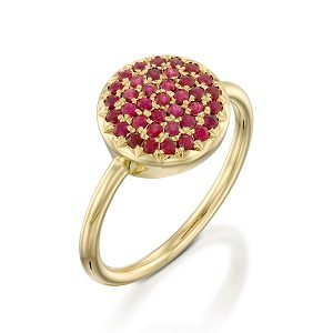 Rubies yellow gold ring model Berry W
