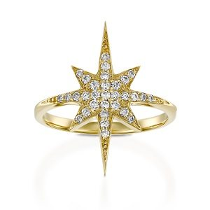 Northern star ring & white diamonds