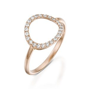 Diamonds circle karma ring model moon halo