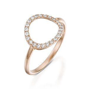 Diamonds circle karma ring model moon halo