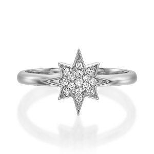 Wishing star ring & white diamonds