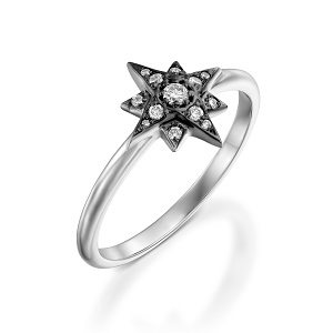 Diamonds star ring model Superstar
