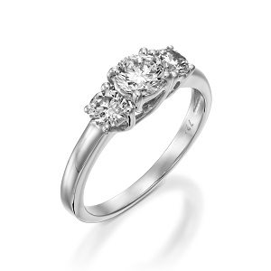 3 Diamonds white gold ring model Tracee 1.00 carats