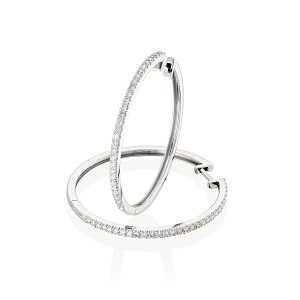 Diamonds hoop earrings model Gypsy Hoop