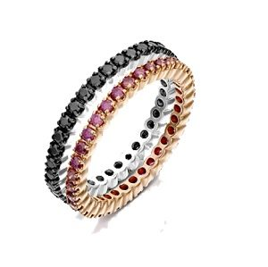 Pairs diamonds eternity ring