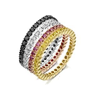 Quartet diamonds eternity rings