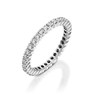 White diamonds eternity tennis ring model Bianca