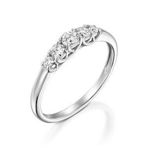 Five diamonds ring model Lucia