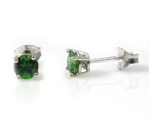 Chrome Tourmaline stud white gold earrings model Do