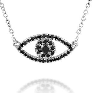Black diamonds pendant model eye