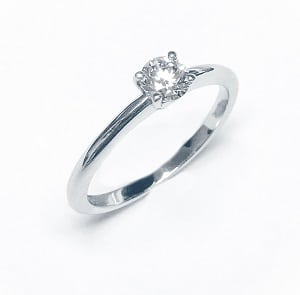 Diamond solitaire engagement ring model dawn