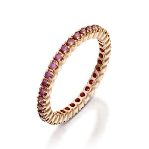Pink sapphires eternity Tennis ring model Rose