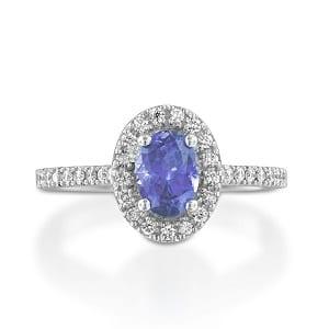 Tanzanite & diamonds ring model Moran