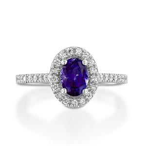 Amethyst & diamonds ring model Moran