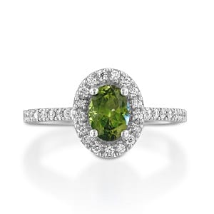 Peridot & diamonds ring model Moran