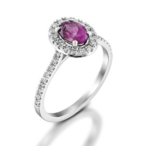 Pink Sapphire & diamonds ring model Moran