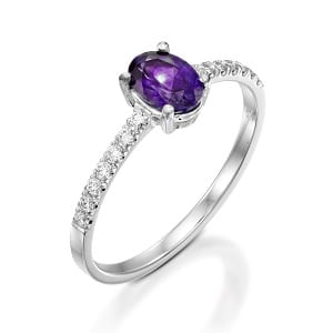 Amethyst & diamonds ring model Adi