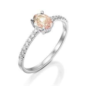 Morganite & diamonds ring model Adi