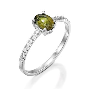 Peridot & diamonds ring model Adi