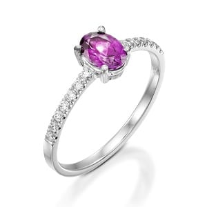 Pink Sapphire & diamonds ring model Adi