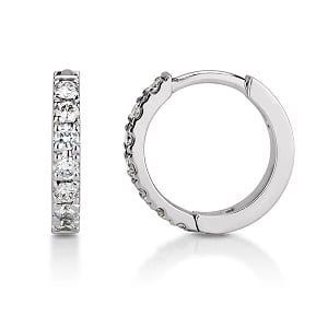Diamonds huggie hoop small earring piercing