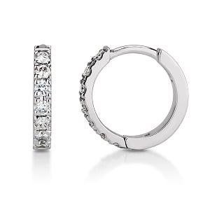 Diamonds huggie hoop small earring piercing