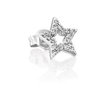 Diamonds bliss star earring piercing