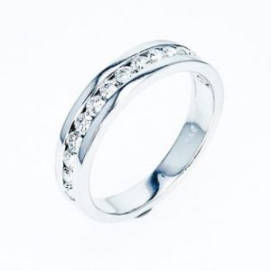 Diamonds channel band ring 0.55 carats
